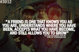 a friend…